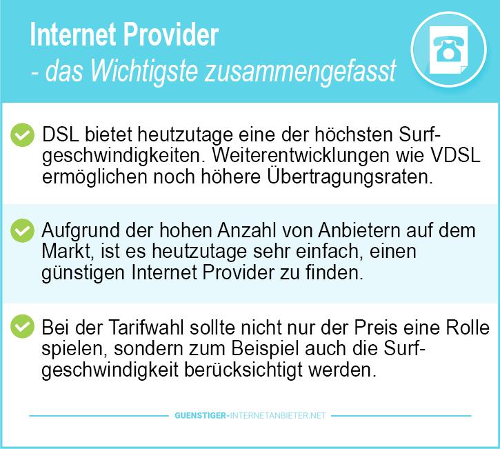 Günstiger Internet Provider Vergleich