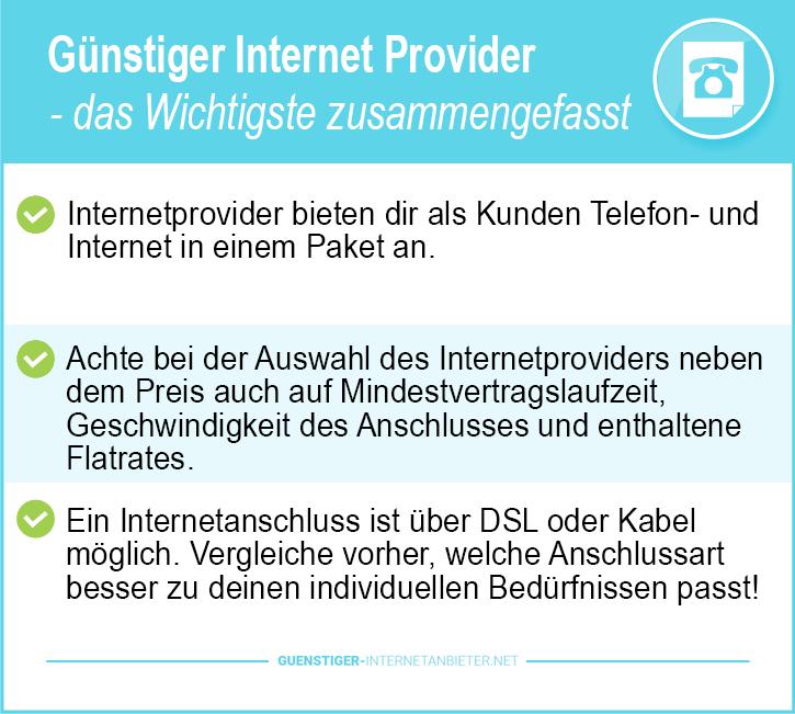Günstiger Internet Provider