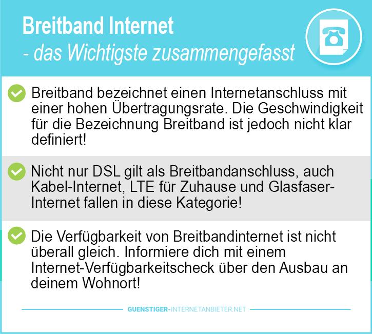 Breitband Internet Anbieter