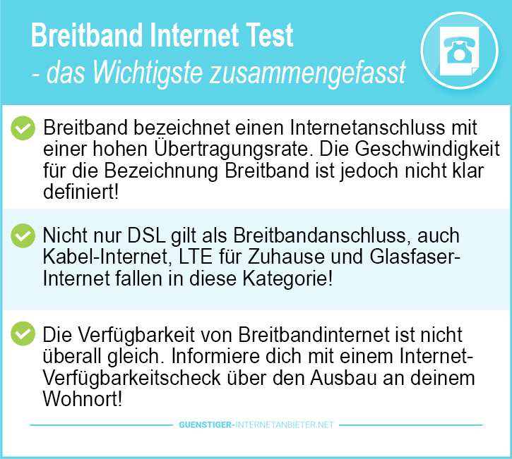 Breitband Internet Test