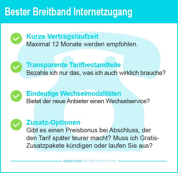 Breitband Internetzugang Vorteile