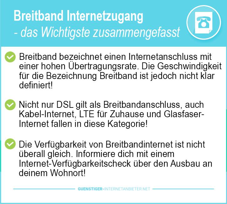 Breitband Internetzugang