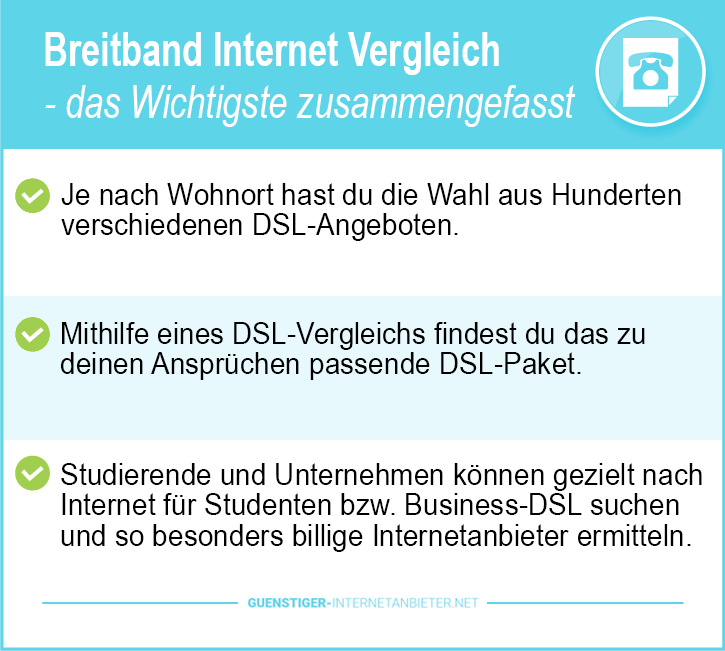 Günstiger Breitband Internet Anbieter