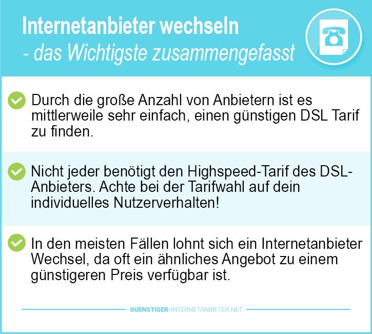 Internetanbieter wechseln Telekom